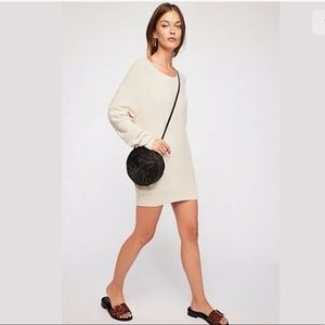 FREE PEOPLE M GOLDEN HOUR CASHMERE SWEATER DRESS